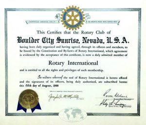 BCSR Charter Certificate